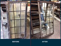 before and after window glass replacement